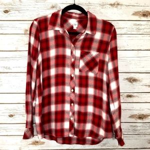 GAP Plaid Button Up Long Sleeve Flannel